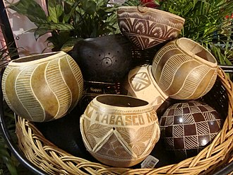 "Pozol - ""Jicaras"" (gourds) in which pozol is traditionally drunk in Tabasco."