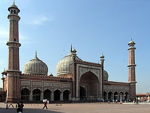 Jama Masjid is the largest mosque in India. Delhi, India retouched.jpg