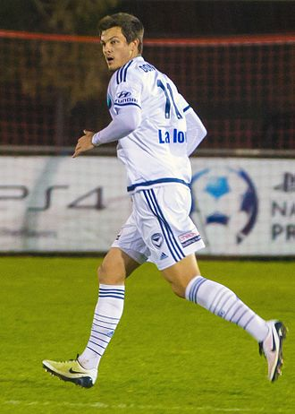 James Donachie - Donachie playing for Melbourne Victory in a friendly match against Port Melbourne, 9 August 2016