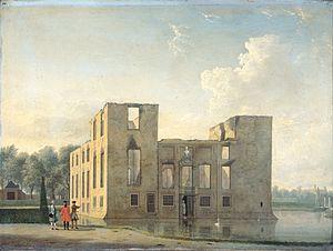 Berkenrode - The rebuilt Berkenrode after the fire in 1747, by Jan ten Compe.