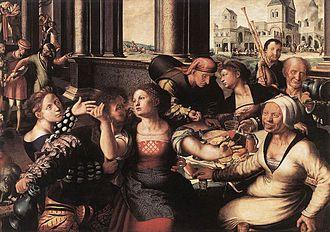 1536 in art - Image: Jan van Hemessen The Prodigal Son WGA11358
