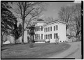 January 1975 GENERAL VIEW OF SOUTHWEST - Isaac Kinsey House and Farm, 502 East Sarver Road, Milton, Wayne County, IN HABS IND,89-MILT.V,1-1.tif