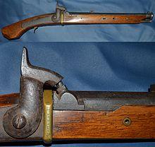 Teppo (arquebuse à mèche Japonaise) - Page 3 220px-Japanese_19th_century_percussion_pistol_1