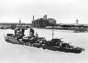 USS Harder (SS-257) - Ikazuchi underway off China in 1938