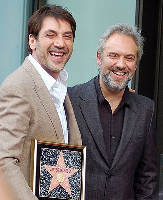 Sam Mendes - Mendes (right) collaborated with Javier Bardem for Skyfall, November 2012