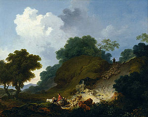 Jean-Honoré Fragonard -  Landscape with Shepherds and Flock of Sheep, c. 1763-65, National Museum of Western Art, Tokyo