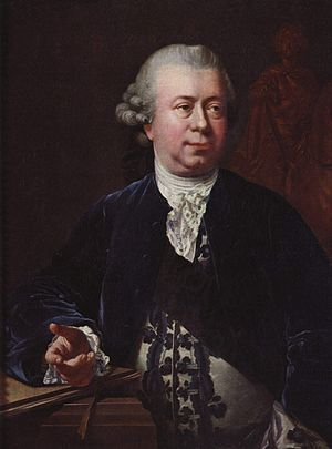 Jacques Saly - Jens Juel, Portrait of Jacques Saly, oil on canvas, 1772