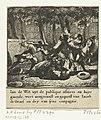 Johan de Witt aangevallen en zwaar gewond, 1672 Jan de Wit uyt de publique affaires na huys gaende, wert aengeranst en gequetst van Jacob de Graef en dry van syne compagnie (titel op object), RP-P-OB-82.188.jpg