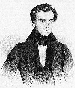 Johann Strauss I, etching from 1835