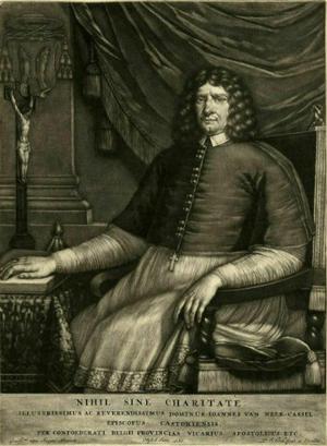 Willem van Ingen - mezzotint of Johannes van Neercassel, 1680