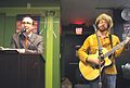 John Hodgman and Jonathan Coulton at Brookline, MA 2006.jpg