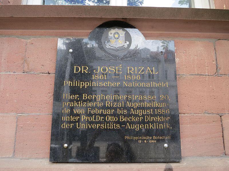 File:José Rizal historical marker at Bergheimer Straße 20, Heidelberg, Germany.jpg