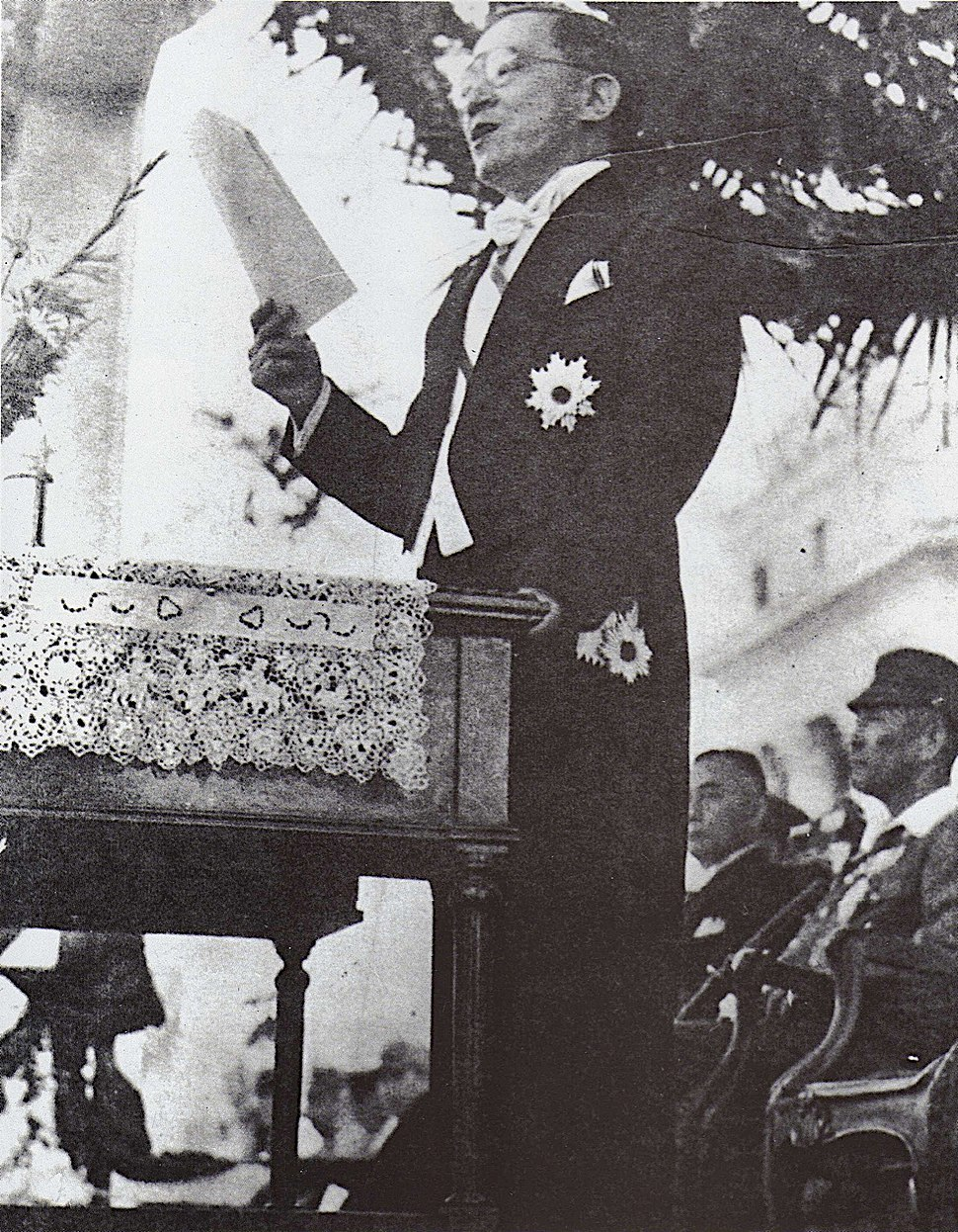 Jose P. Laurel giving a speech