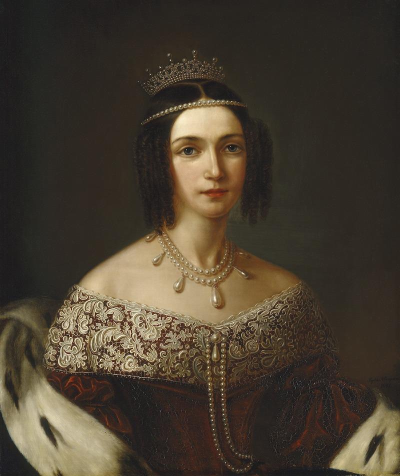 Josefina, 1807-1876, drottning av Sverige och Norge prinsessa av Leuchtenberg (Sophie Adlersparre) - Nationalmuseum - 15092.tif