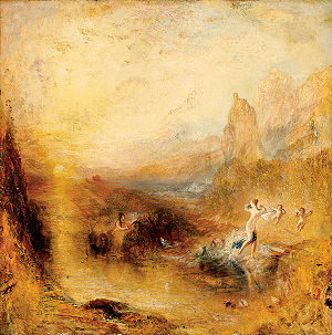 Scylla - J. M. W. Turner's painting of Scylla flying inland from the advances of Glaucus, 1841