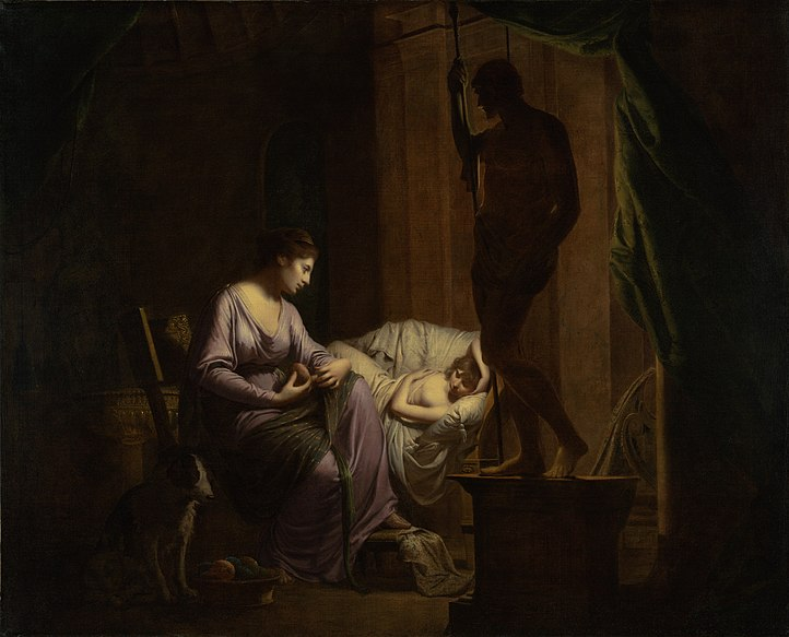 File:Joseph Wright of Derby. Penelope Unravelling Her Web by Lamp Light. exhibited 1785.jpg