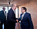 Juan Carlos I, King of Spain, and Xavier Barcons, the President of the ESO Council.jpg