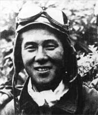 Junichi Sasai - Sasai wearing flight gear. This 1942 photo shows Sasai shortly before his death over Guadalcanal on August 26.