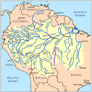 Juruena River - Image: Juruenarivermap