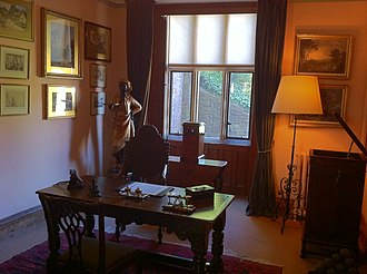 Dunster Castle - The Justice Room and the Desk are named after George Luttrell's role as a Justice of the Peace.