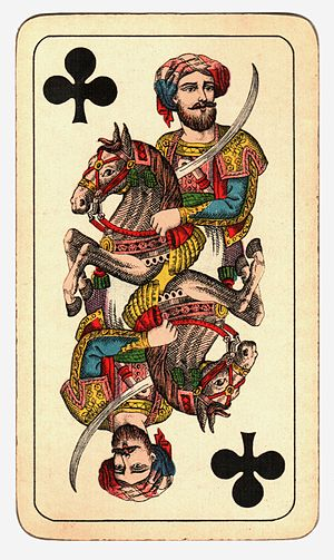 Knight (playing card) - Image: Kártya Hamburger és Birkholz R.T. Budapest (4)