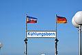 Kühlungsborn, Seebrücke, Namensschild (2).JPG