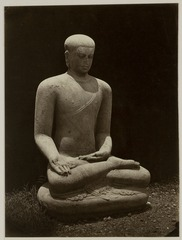 KITLV 28250 - Isidore van Kinsbergen - Buddha sculpture at the residency in Kediri - 1866-12-1867-01.tif