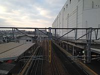 Kagoshima Main Line from overpass of Kashii Station (South).JPG