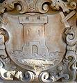 Kamienna Góra, herb Lubawki na południwej elewcji ratusza (Aw58) PA180494.JPG
