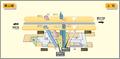 Kamiyashiro station map Nagoya subway's Higashiyama line 2014.png