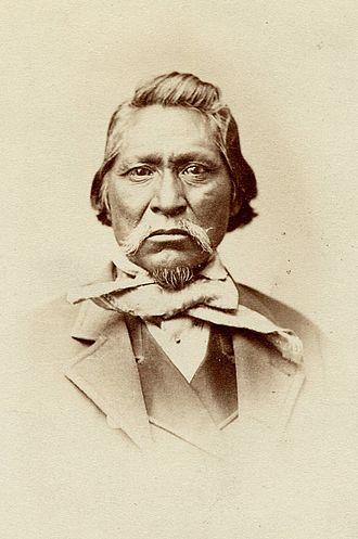 Kanosh (chief) - Portrait from ca. 1870.