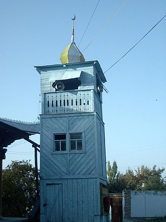 Hui people - The minaret of the Dungan Mosque in Karakol, Kyrgyzstan