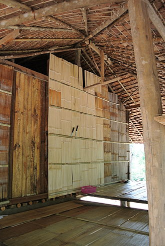 Karen people - Entrance of a Karen house, northern Thailand