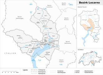 Locarno District - Image: Karte Bezirk Locarno 2016