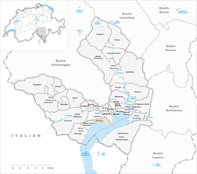 Karte von Ascona