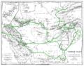 Karte Justi Vorderasien AlexGrPersien 1879 HeerRoute B003.png