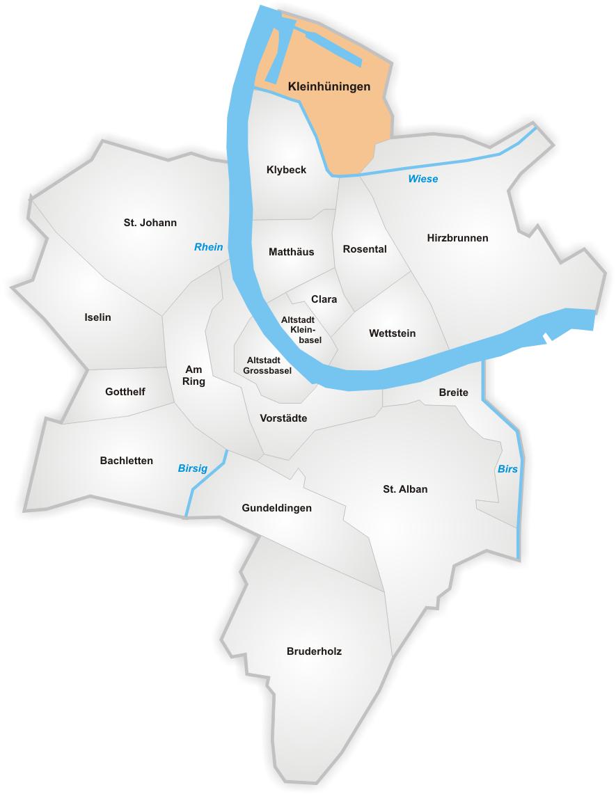 Karte von Kleinhüningen