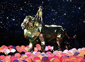 "Roar (song) - Perry performing ""Roar"" during Super Bowl XLIX halftime show"