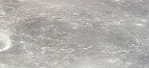 Kiess (crater) - Oblique view of Kiess and Widmannstätten from Apollo 12