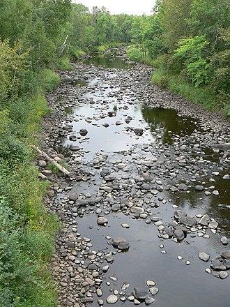 Kettle River (St. Croix River) - Far upper section of the Kettle River Kettle River during low water.
