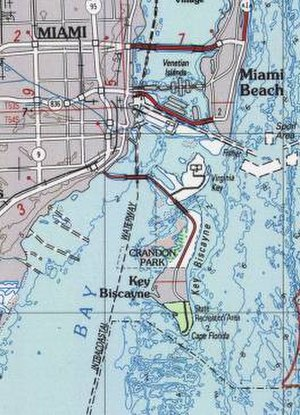 Key Biscayne, Florida - Map of Key Biscayne
