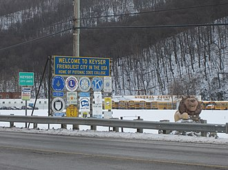 Keyser, West Virginia - Welcome sign, 2014