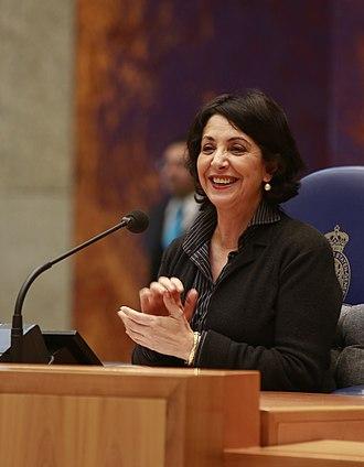 Women in government - Khadija Arib at the Dutch Parliament