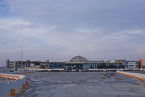 Khrabrovo Airport - The old terminal under reconstruction and merging with new terminal