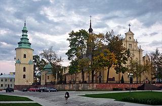 Kielce Place in Świętokrzyskie Voivodeship, Poland
