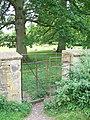 Kissing gate, St Bartholomew's Churchyard - geograph.org.uk - 2018294.jpg