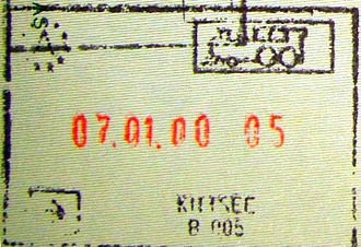 Kittsee - Passport stamp from the border before Slovakia joined the Schengen Area.