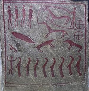 The King's Grave - Image: Kiviksgraven slab 2