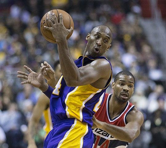 Kobe Bryant on the court