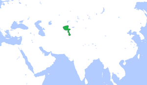 Khanate of Kokand - The Khanate of Kokand (green), c. 1850.